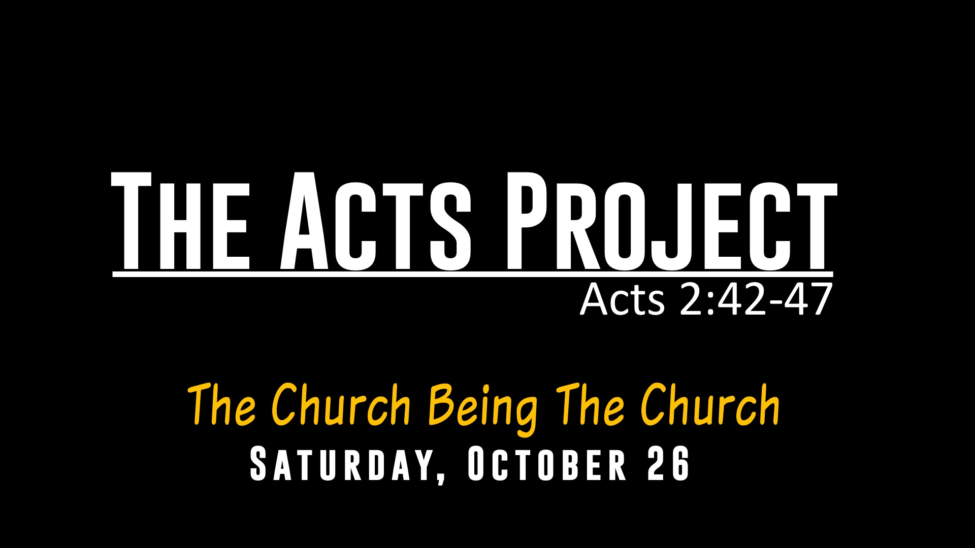Acts-Project
